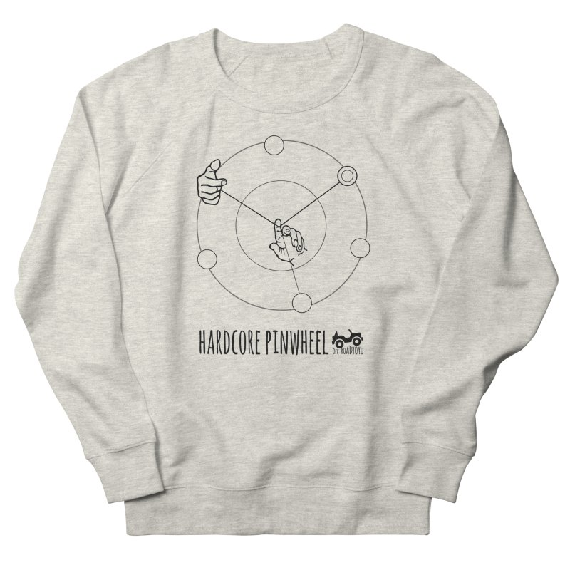 Hardcore Pinwheel, black Women's French Terry Sweatshirt by OFF-ROAD YOYO