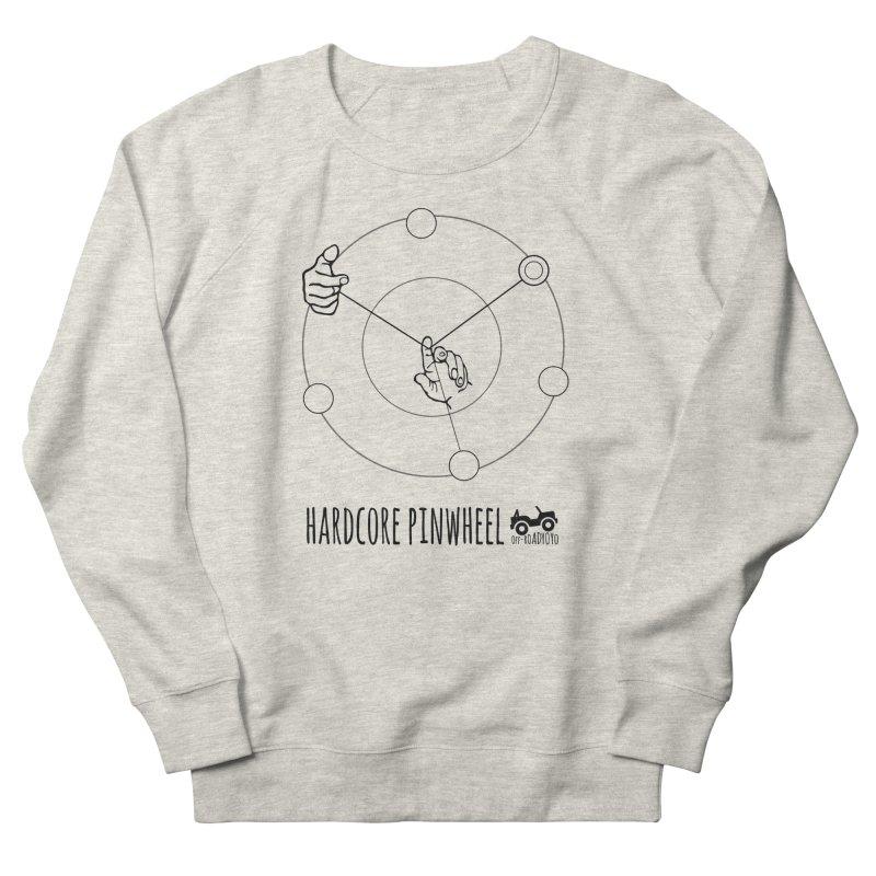 Hardcore Pinwheel, black Men's French Terry Sweatshirt by OFF-ROAD YOYO