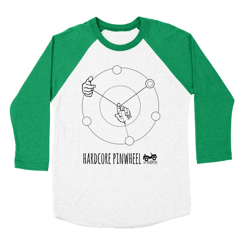 Hardcore Pinwheel, black Women's Baseball Triblend Longsleeve T-Shirt by OFF-ROAD YOYO