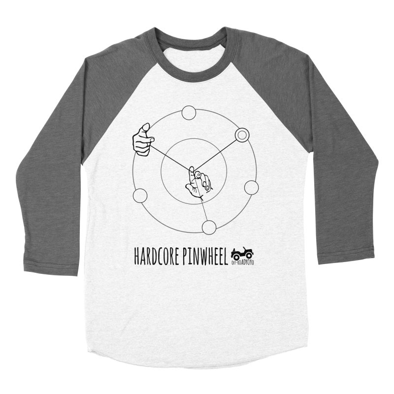 Hardcore Pinwheel, black Men's Baseball Triblend Longsleeve T-Shirt by OFF-ROAD YOYO