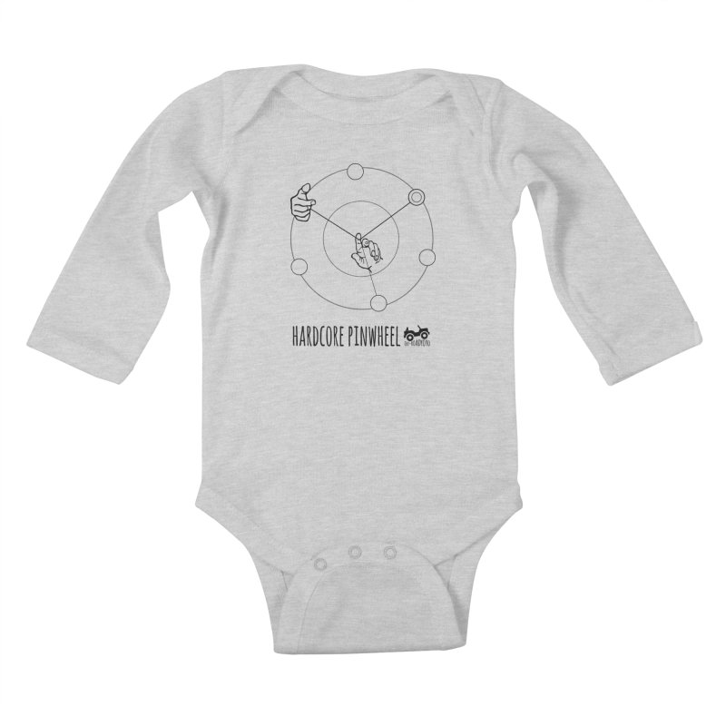 Hardcore Pinwheel, black Kids Baby Longsleeve Bodysuit by OFF-ROAD YOYO