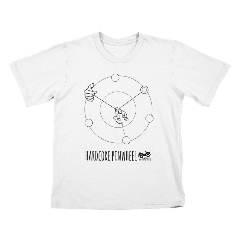 Hardcore Pinwheel, black Kids T-Shirt by OFF-ROAD YOYO