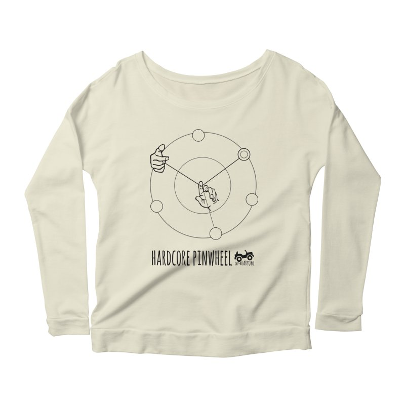 Hardcore Pinwheel, black Women's Scoop Neck Longsleeve T-Shirt by OFF-ROAD YOYO