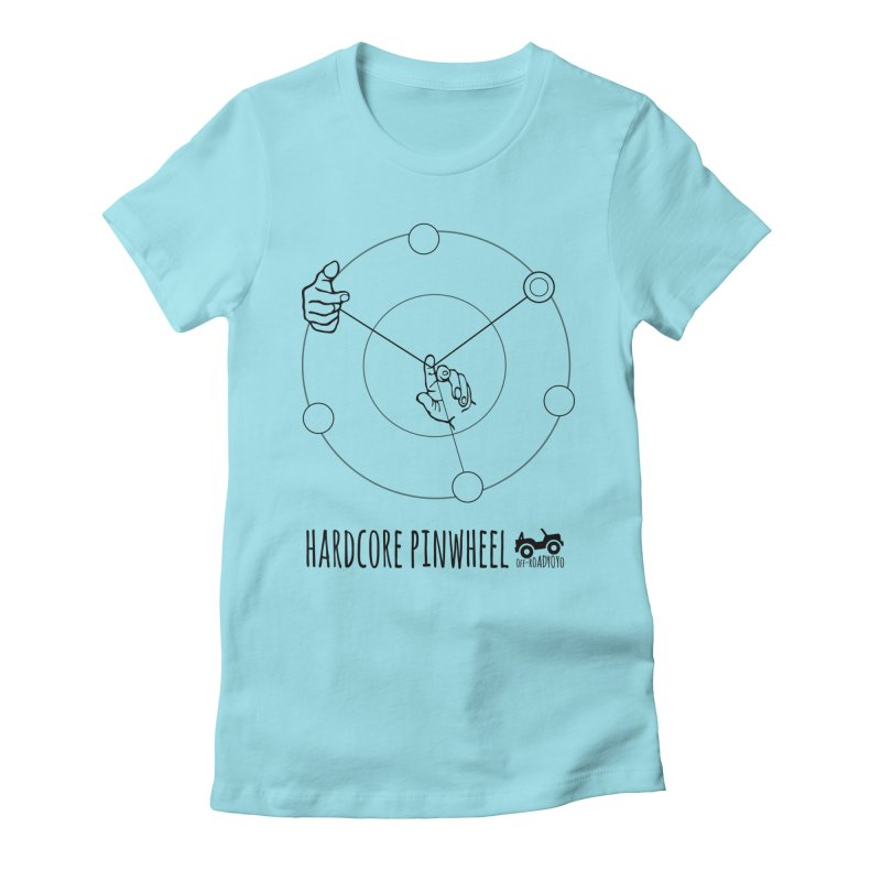 Hardcore Pinwheel, black Women's Fitted T-Shirt by OFF-ROAD YOYO