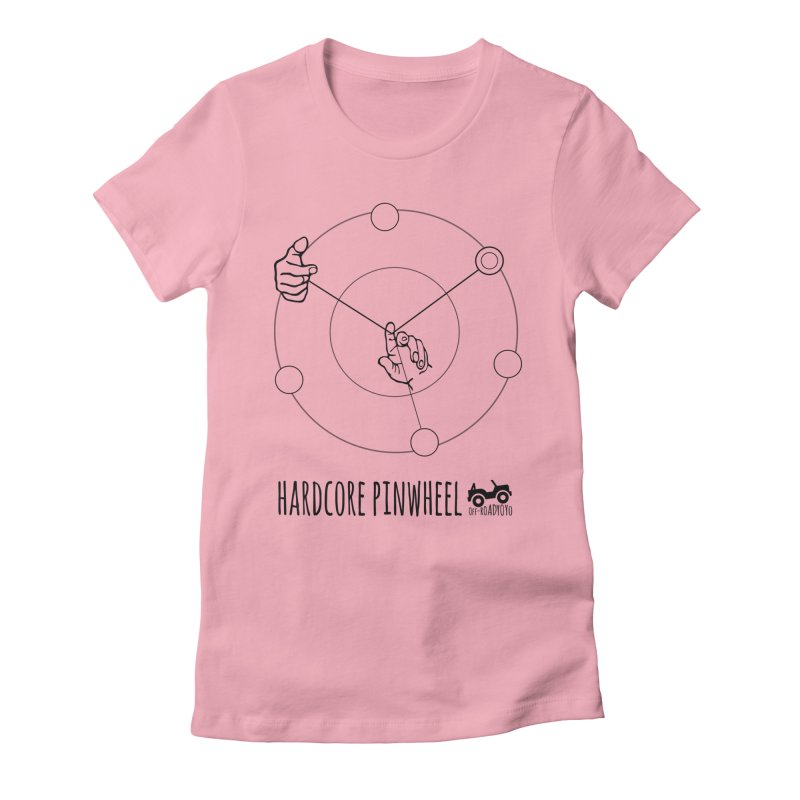 Hardcore Pinwheel, black Women's Fitted T-Shirt by OFF-ROAD YOYO