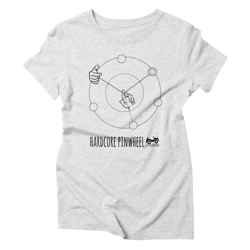 Hardcore Pinwheel, black Women's Triblend T-Shirt by OFF-ROAD YOYO