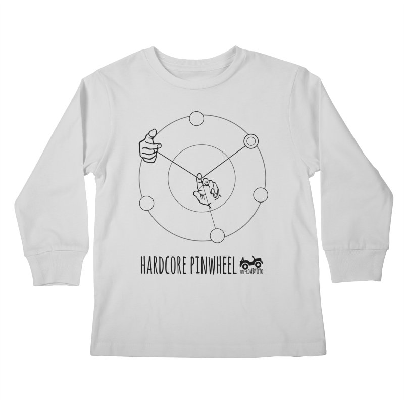 Hardcore Pinwheel, black Kids Longsleeve T-Shirt by OFF-ROAD YOYO