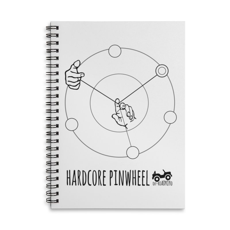 Hardcore Pinwheel, black Accessories Lined Spiral Notebook by OFF-ROAD YOYO