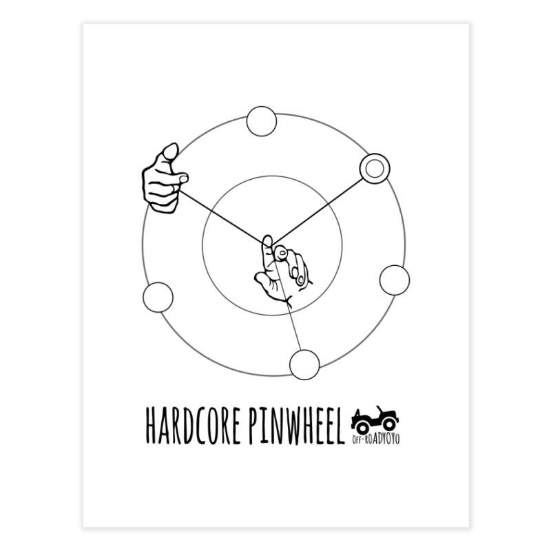 Hardcore Pinwheel, black Home Fine Art Print by OFF-ROAD YOYO