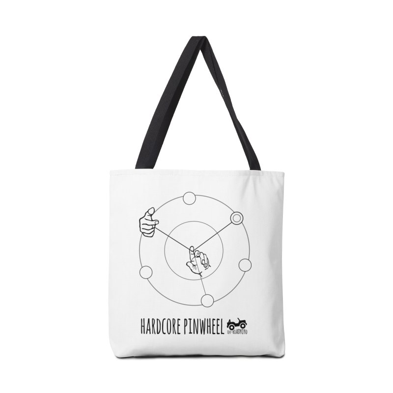Hardcore Pinwheel, black Accessories Tote Bag Bag by OFF-ROAD YOYO