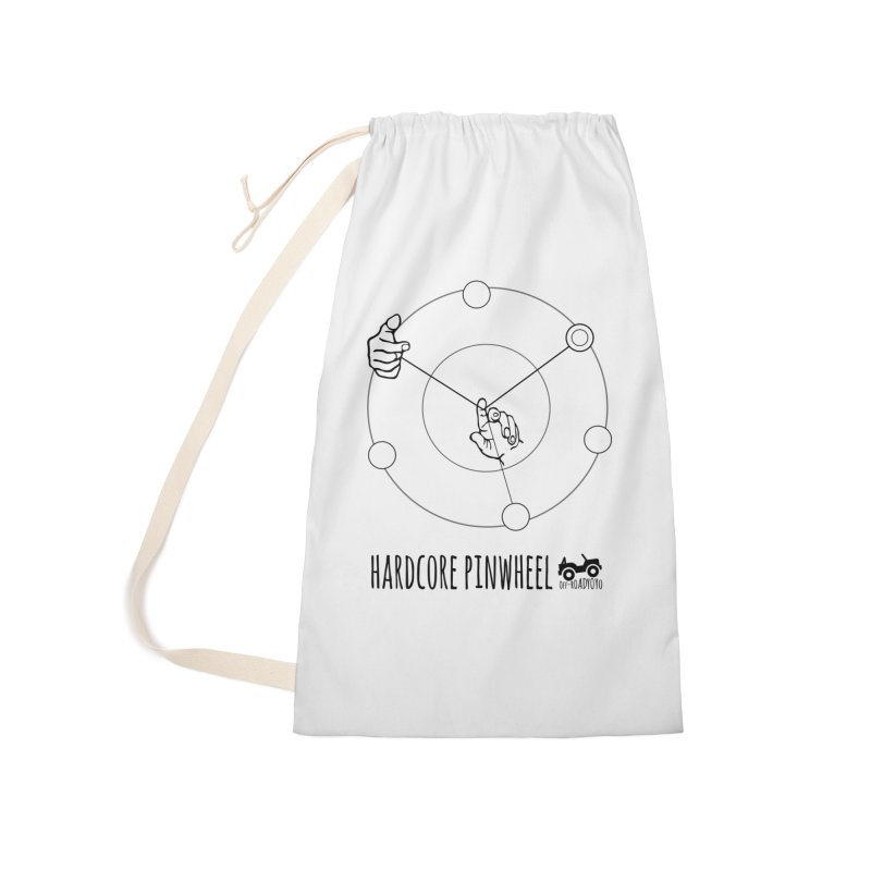 Hardcore Pinwheel, black Accessories Laundry Bag Bag by OFF-ROAD YOYO