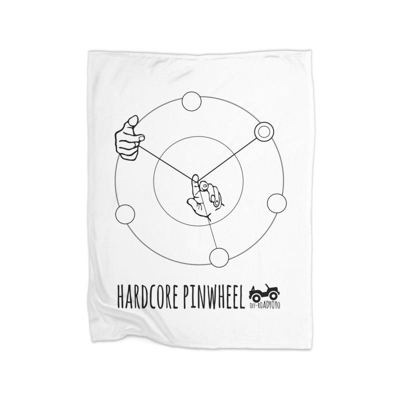 Hardcore Pinwheel, black Home Fleece Blanket Blanket by OFF-ROAD YOYO