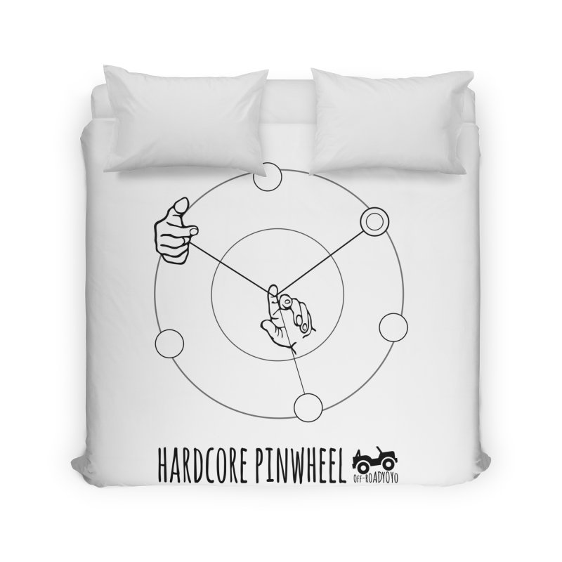 Hardcore Pinwheel, black Home Duvet by OFF-ROAD YOYO