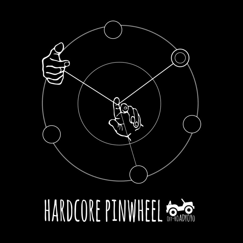 Hardcore Pinwheel, white Men's Longsleeve T-Shirt by OFF-ROAD YOYO