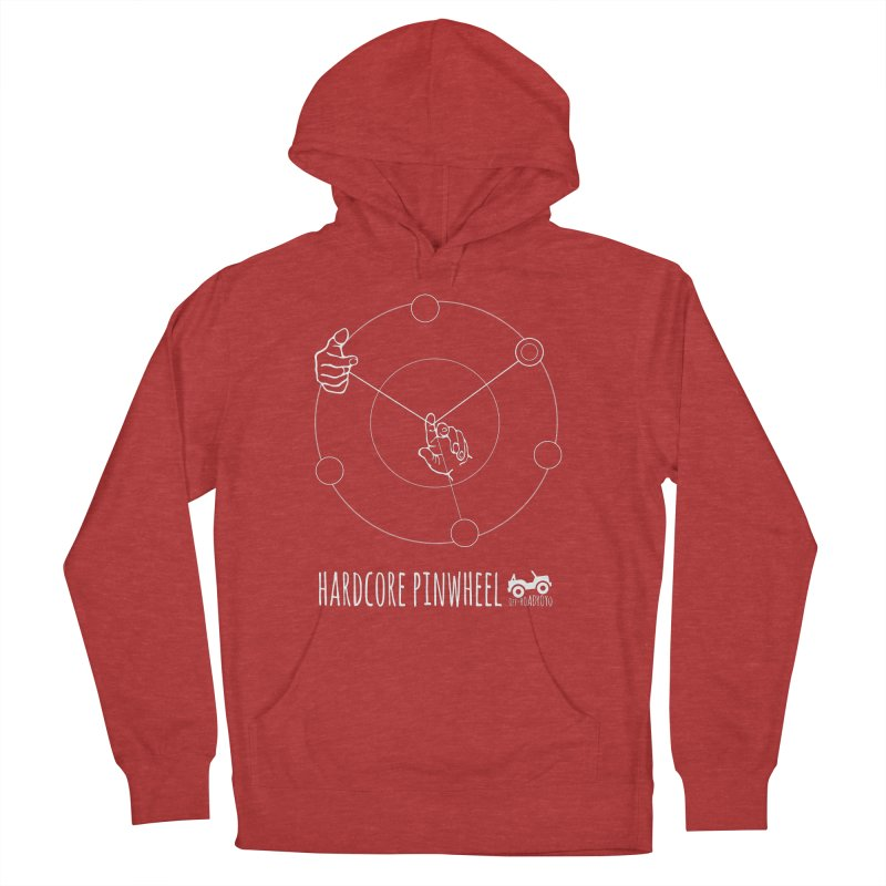 Hardcore Pinwheel, white Men's French Terry Pullover Hoody by OFF-ROAD YOYO