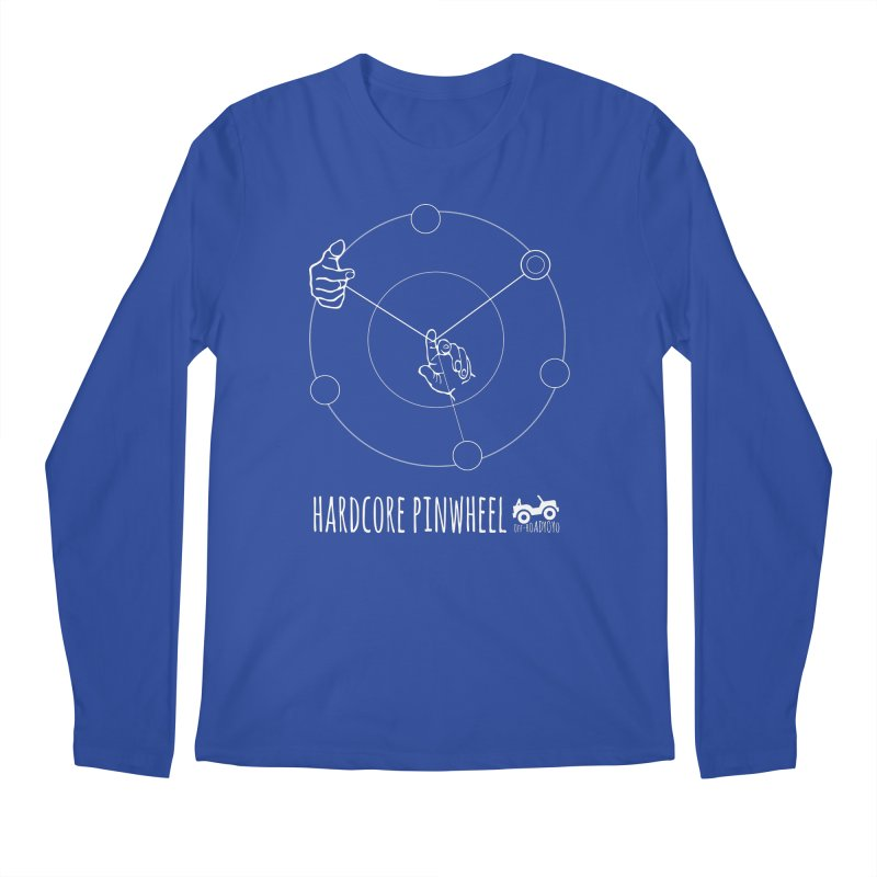 Hardcore Pinwheel, white Men's Regular Longsleeve T-Shirt by OFF-ROAD YOYO