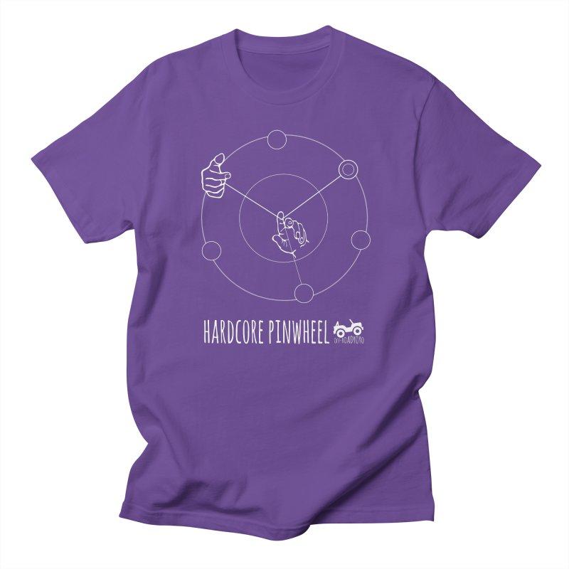 Hardcore Pinwheel, white Men's Regular T-Shirt by OFF-ROAD YOYO