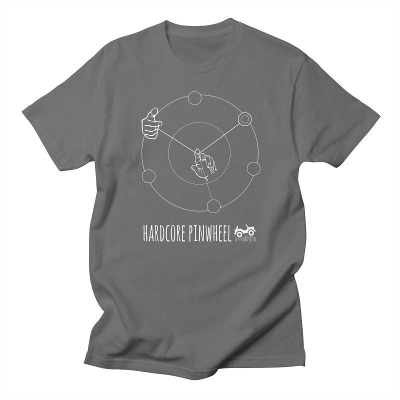 Hardcore Pinwheel, white Men's T-Shirt by OFF-ROAD YOYO