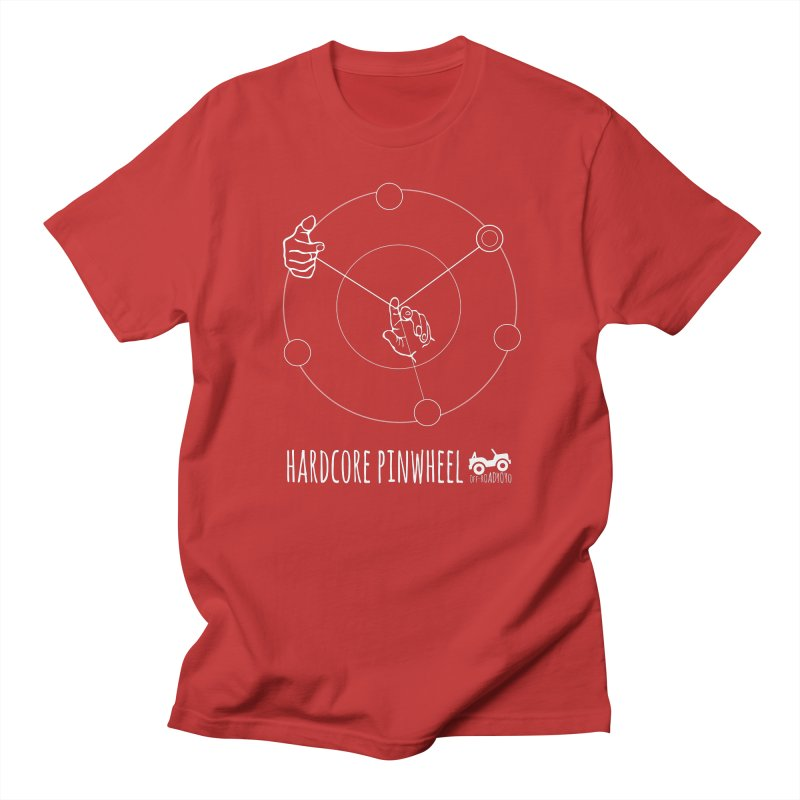 Hardcore Pinwheel, white Women's Regular Unisex T-Shirt by OFF-ROAD YOYO