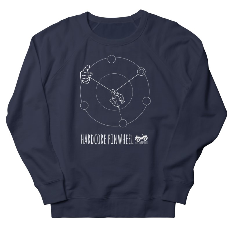 Hardcore Pinwheel, white Men's French Terry Sweatshirt by OFF-ROAD YOYO