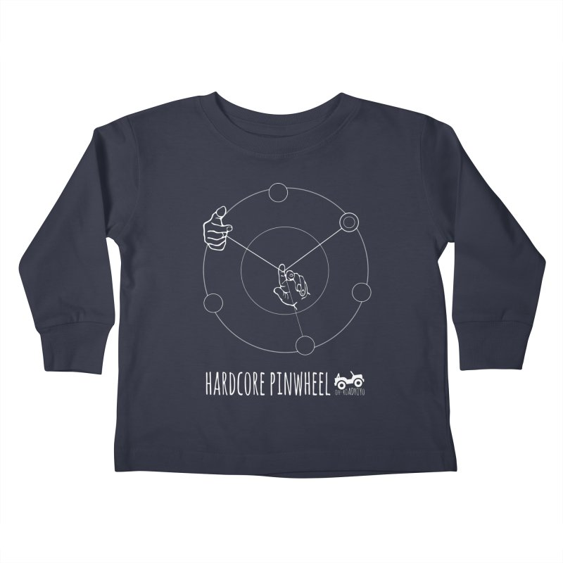 Hardcore Pinwheel, white Kids Toddler Longsleeve T-Shirt by OFF-ROAD YOYO