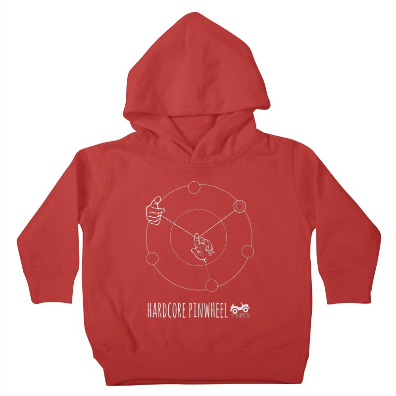 Hardcore Pinwheel, white Kids Toddler Pullover Hoody by OFF-ROAD YOYO