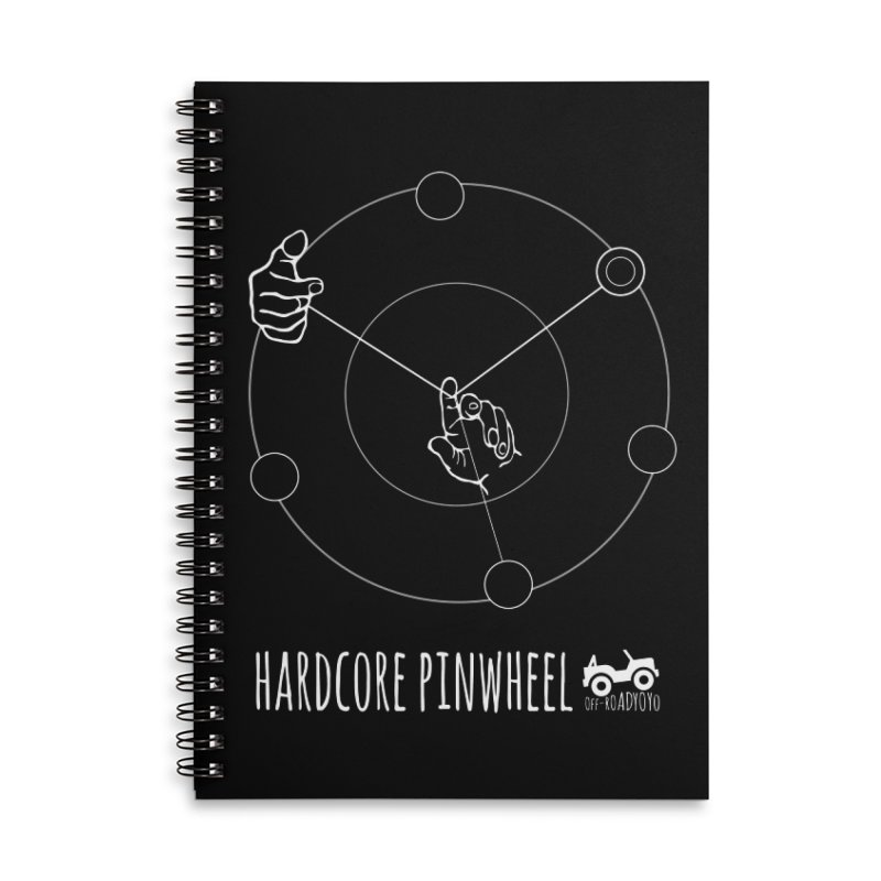 Hardcore Pinwheel, white Accessories Lined Spiral Notebook by OFF-ROAD YOYO