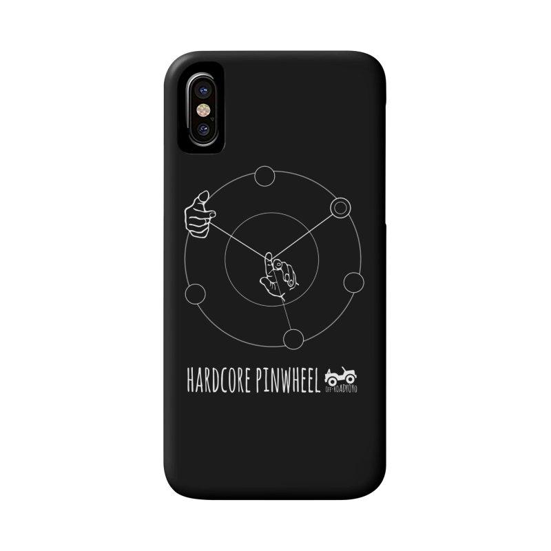 Hardcore Pinwheel, white Accessories Phone Case by OFF-ROAD YOYO