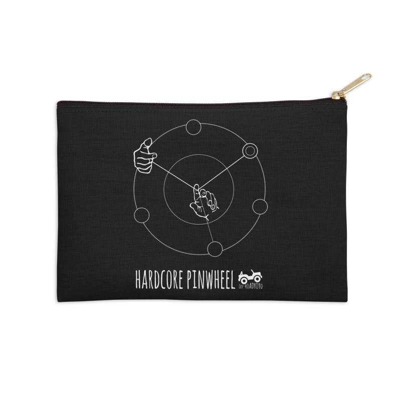 Hardcore Pinwheel, white Accessories Zip Pouch by OFF-ROAD YOYO