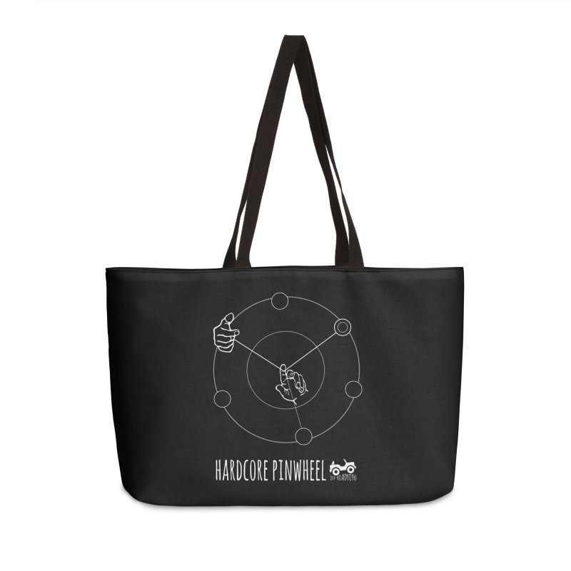 Hardcore Pinwheel, white Accessories Weekender Bag Bag by OFF-ROAD YOYO