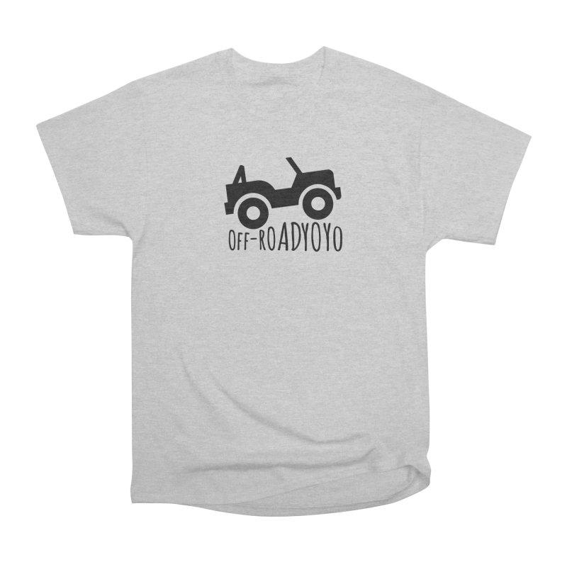 OFF-ROAD YOYO Logo, black Men's Heavyweight T-Shirt by OFF-ROAD YOYO