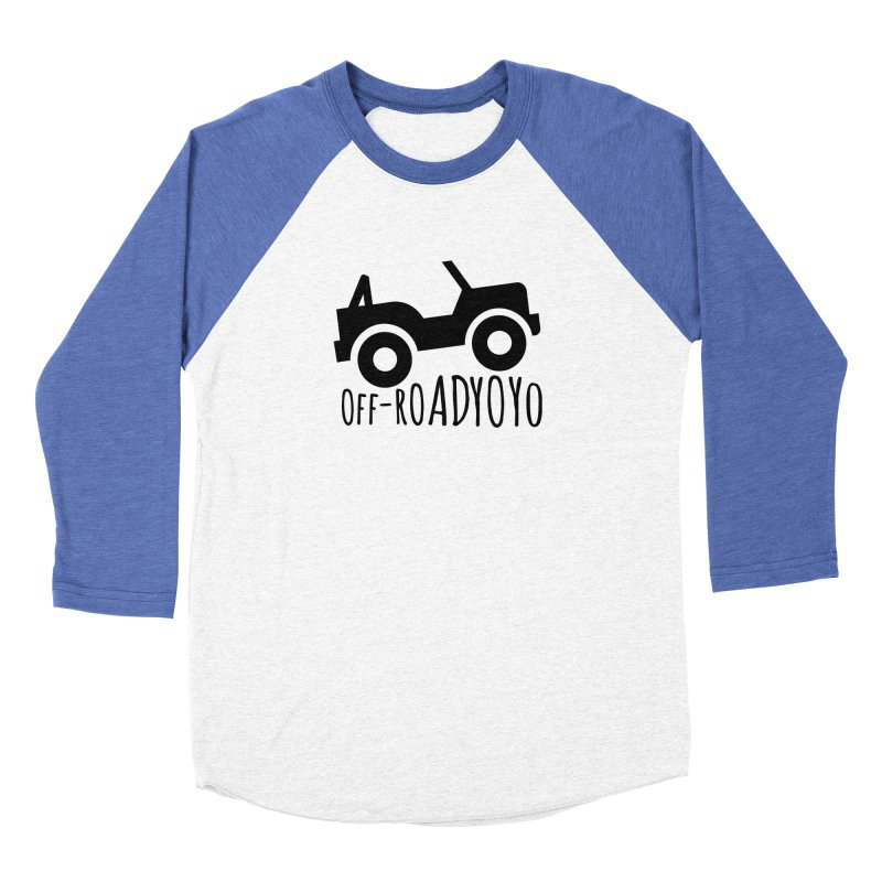OFF-ROAD YOYO Logo, black Women's Baseball Triblend Longsleeve T-Shirt by OFF-ROAD YOYO