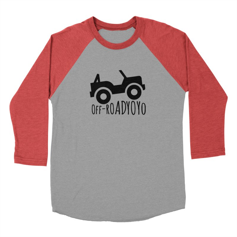 OFF-ROAD YOYO Logo, black Men's Baseball Triblend Longsleeve T-Shirt by OFF-ROAD YOYO