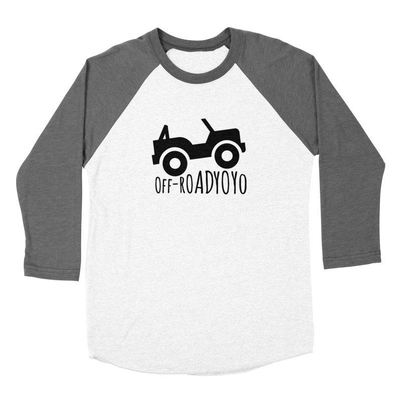 OFF-ROAD YOYO Logo, black Men's Baseball Triblend Longsleeve T-Shirt by OFF-ROAD YOYO
