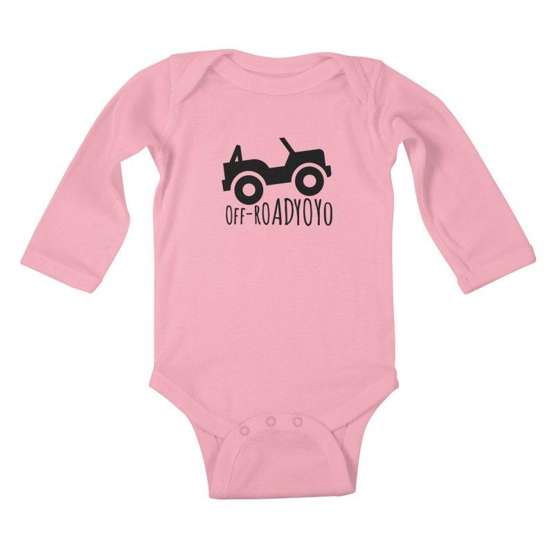 OFF-ROAD YOYO Logo, black Kids Baby Longsleeve Bodysuit by OFF-ROAD YOYO