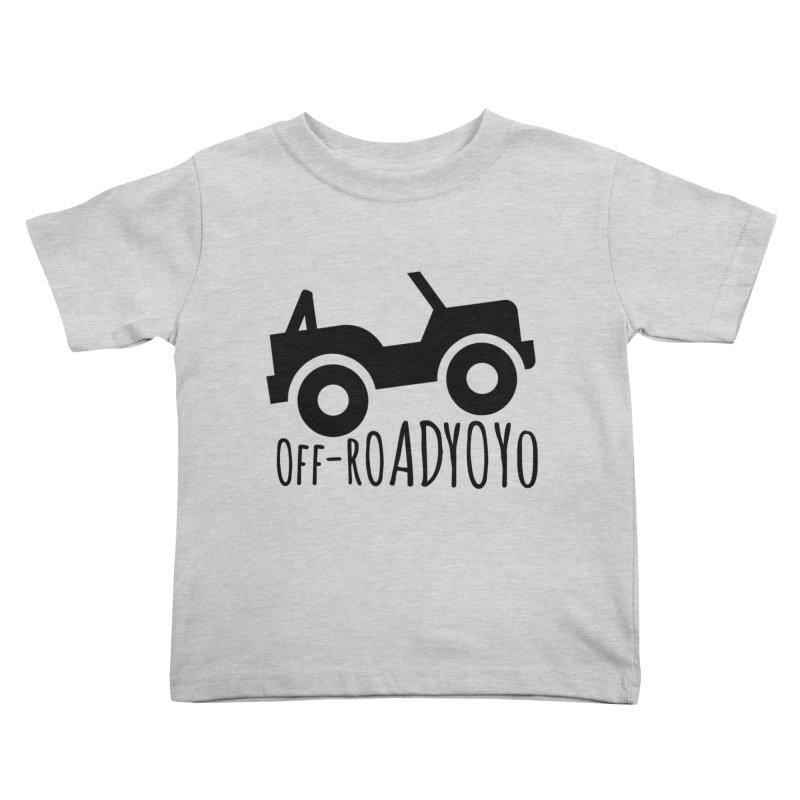 OFF-ROAD YOYO Logo, black Kids Toddler T-Shirt by OFF-ROAD YOYO