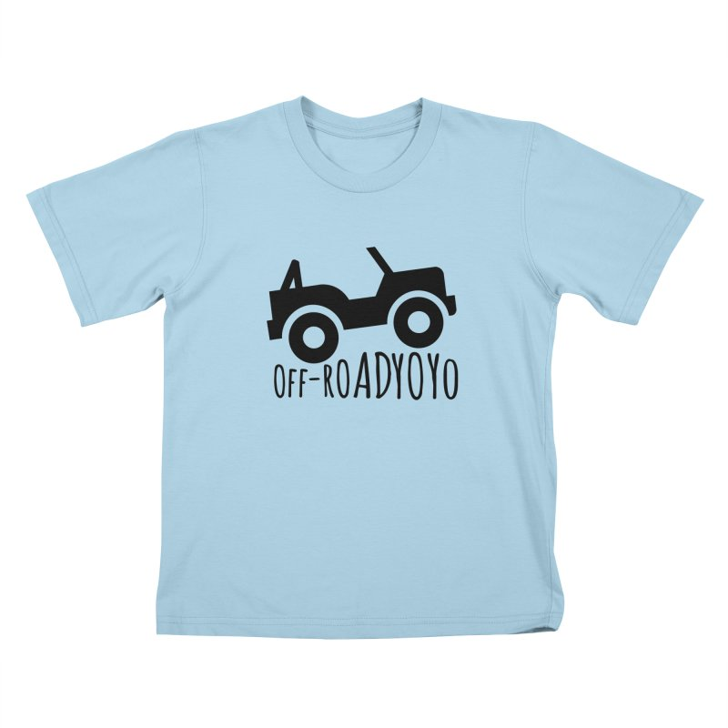 OFF-ROAD YOYO Logo, black Kids T-Shirt by OFF-ROAD YOYO