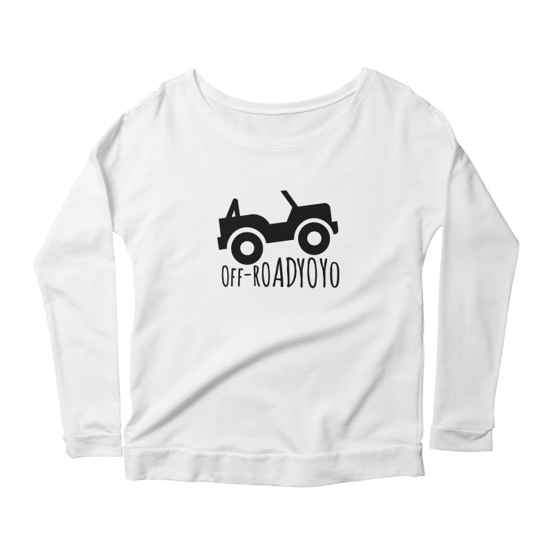 OFF-ROAD YOYO Logo, black Women's Scoop Neck Longsleeve T-Shirt by OFF-ROAD YOYO