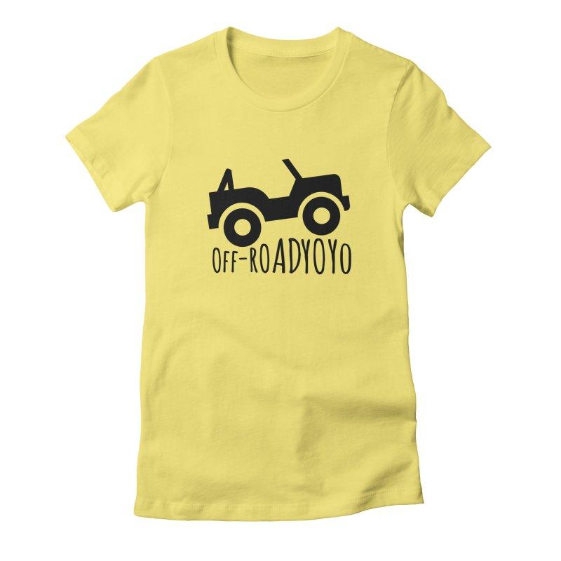 OFF-ROAD YOYO Logo, black Women's Fitted T-Shirt by OFF-ROAD YOYO