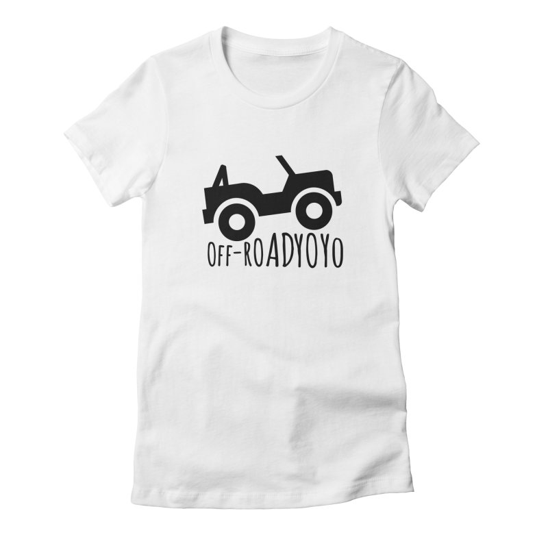 OFF-ROAD YOYO Logo, black Women's Fitted T-Shirt by OFF-ROAD YOYO