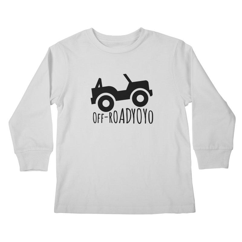 OFF-ROAD YOYO Logo, black Kids Longsleeve T-Shirt by OFF-ROAD YOYO
