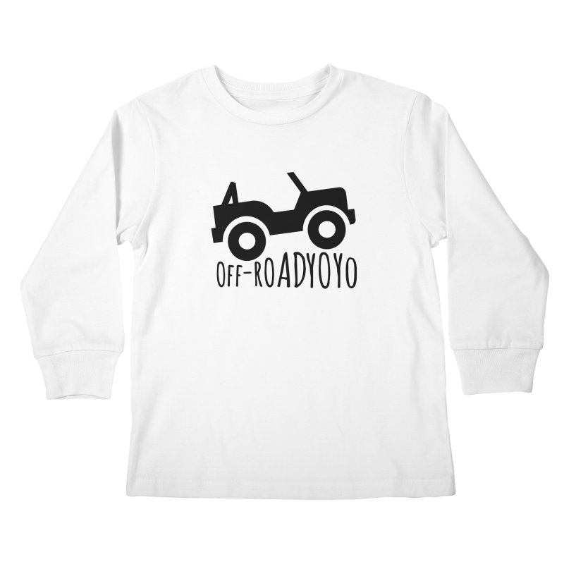OFF-ROAD YOYO Logo, black Kids Longsleeve T-Shirt by OFF-ROAD YOYO