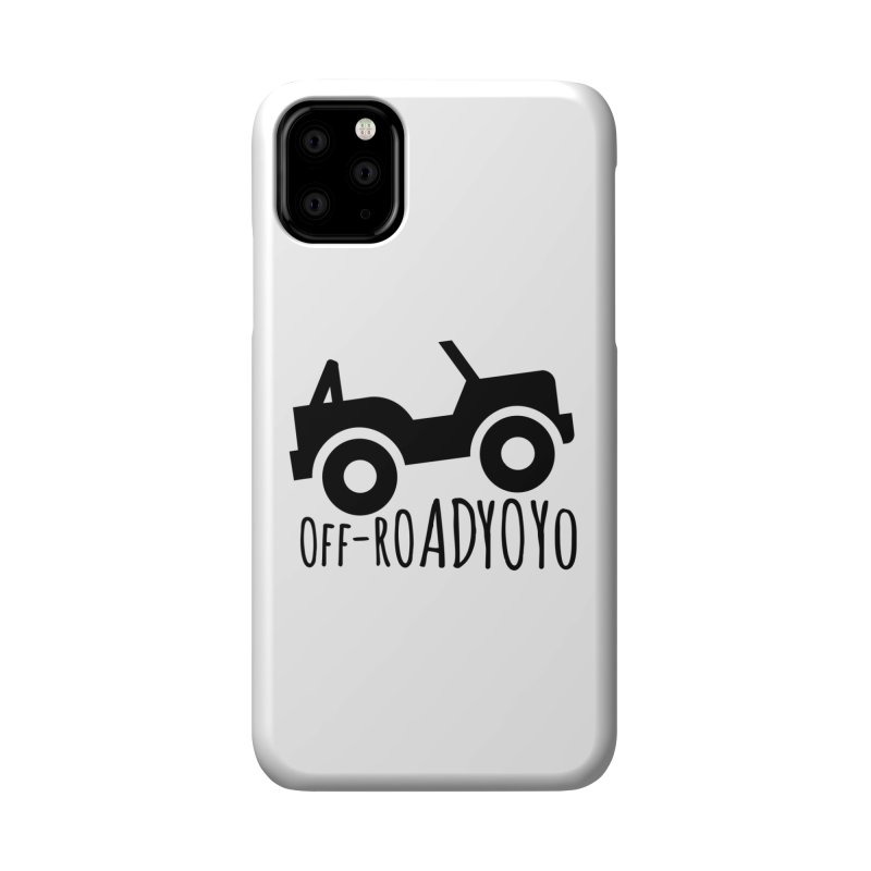 OFF-ROAD YOYO Logo, black Accessories Phone Case by OFF-ROAD YOYO
