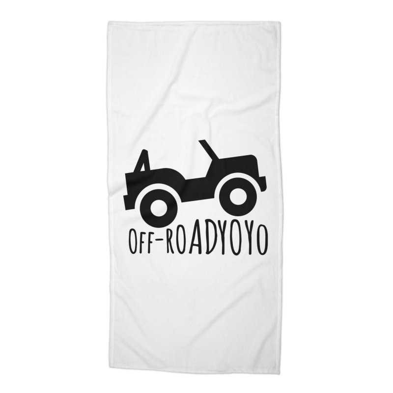 OFF-ROAD YOYO Logo, black Accessories Beach Towel by OFF-ROAD YOYO