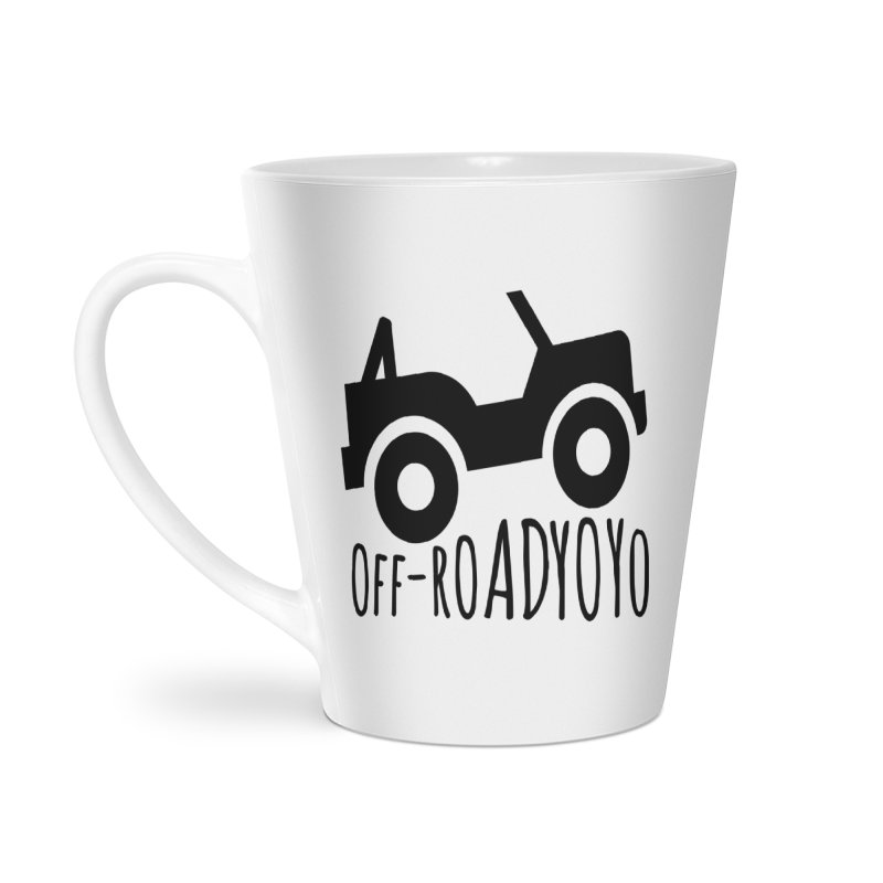 OFF-ROAD YOYO Logo, black Accessories Latte Mug by OFF-ROAD YOYO