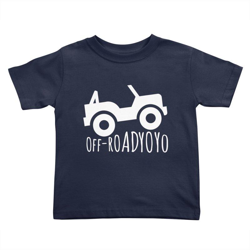 OFF-ROAD YOYO Logo, white Kids Toddler T-Shirt by OFF-ROAD YOYO