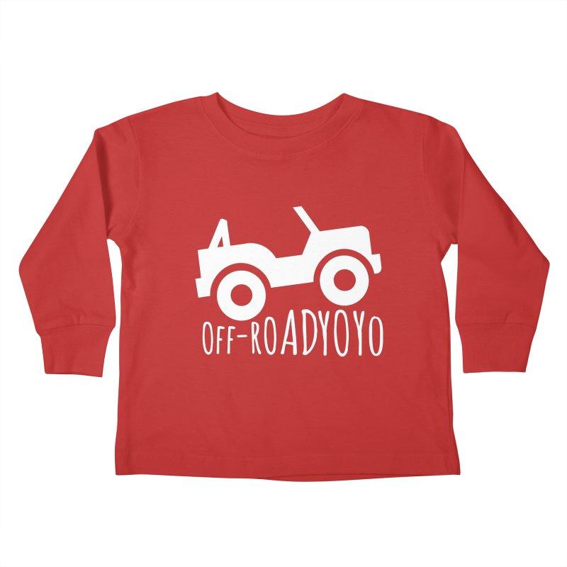 OFF-ROAD YOYO Logo, white Kids Toddler Longsleeve T-Shirt by OFF-ROAD YOYO