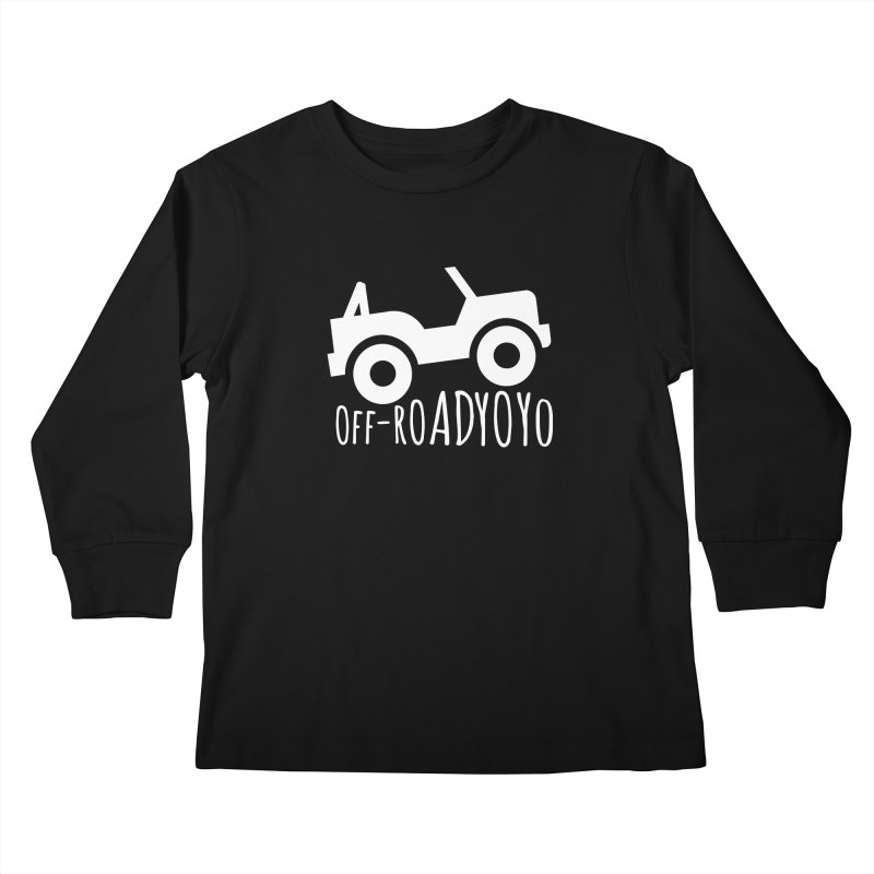 OFF-ROAD YOYO Logo, white Kids Longsleeve T-Shirt by OFF-ROAD YOYO