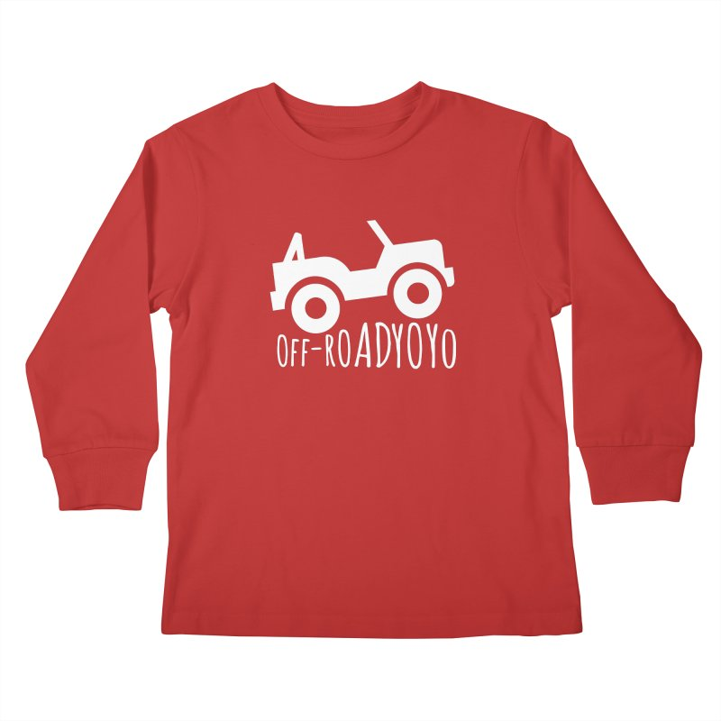 OFF-ROAD YOYO Logo, white Kids Longsleeve T-Shirt by OFF-ROAD YOYO