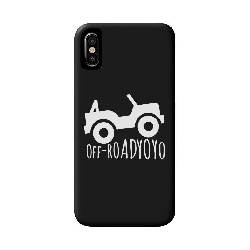 OFF-ROAD YOYO Logo, white Accessories Phone Case by OFF-ROAD YOYO